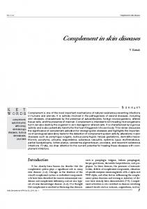 Complement in skin diseases