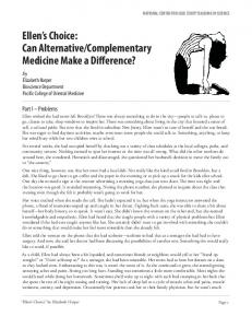 Complementary Medicine Make a Difference?