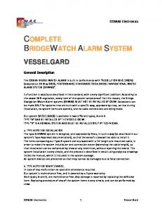 COMPLETE BRIDGEWATCH ALARM SYSTEM