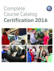 Complete Course Catalog Certification 2016