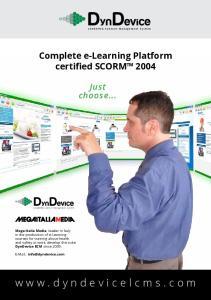 COMPLETE E-LEARNING PLATFORM SCORM