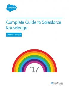 Complete Guide to Salesforce Knowledge