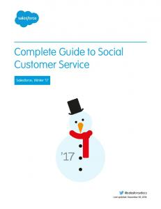 Complete Guide to Social Customer Service