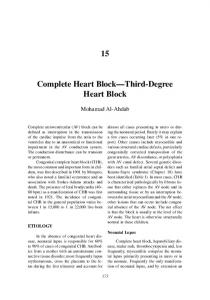 Complete Heart Block Third-Degree Heart Block