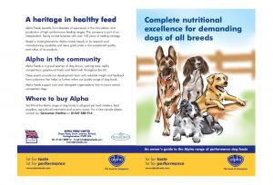 Complete nutritional excellence for demanding dogs of all breeds