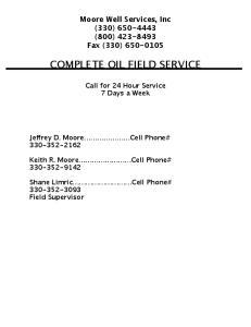 COMPLETE OIL FIELD SERVICE