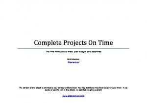 Complete Projects On Time