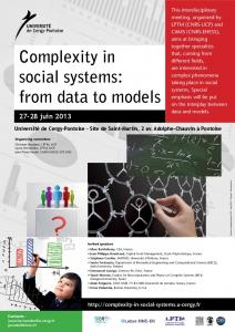Complexity in social systems: from data to models