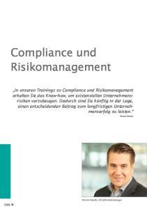 Compliance und Risikomanagement