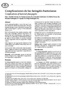 Complicaciones de las faringitis bacterianas