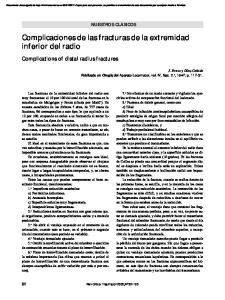 Complicaciones de las fracturas de la extremidad inferior del radio