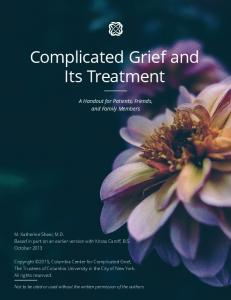 Complicated Grief and Its Treatment