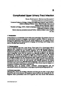 Complicated Upper Urinary Tract Infection