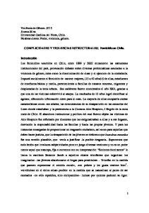 COMPLICIDADES Y VIOLENCIAS ESTRUCTURALES; Femicidio en Chile