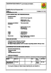 COMPO Pilz frei Polyram-WG