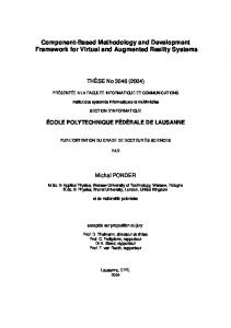 Component-Based Methodology and Development Framework for Virtual and Augmented Reality Systems