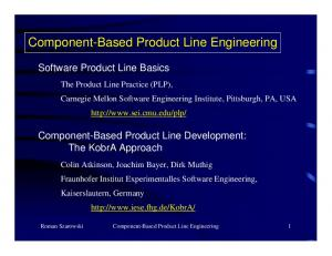Component-Based Product Line Engineering