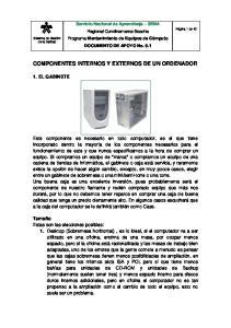 COMPONENTES INTERNOS Y EXTERNOS DE UN ORDENADOR