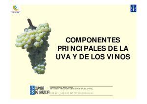 COMPONENTES PRINCIPALES DE LA UVA Y DE LOS VINOS