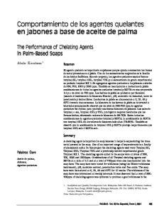 Comportamiento de los agentes quelantes en jabones a base de aceite de palma
