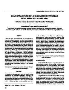 COMPORTAMIENTO DEL CONSUMIDOR DE TRUCHAS EN EL MUNICIPIO MARACAIBO