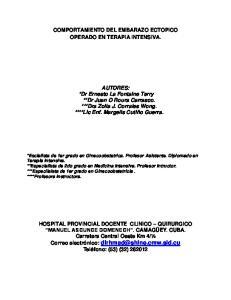 COMPORTAMIENTO DEL EMBARAZO ECTOPICO OPERADO EN TERAPIA INTENSIVA