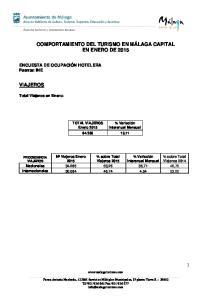 COMPORTAMIENTO DEL TURISMO EN MÁLAGA CAPITAL EN ENERO DE 2015