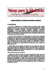 COMPORTAMIENTOS Y CONDUCTAS DE NUESTRO ALUMNADO