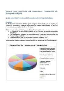Composición del Cuestionario Comunitario
