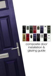 composite door installation & glazing guide