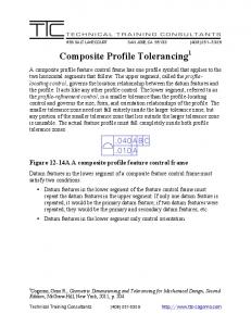 Composite Profile Tolerancing 1