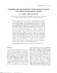 Composition and characterization of humic substances extracted from effluent-based pressmud composts