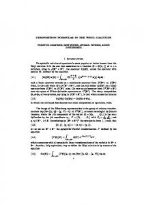 COMPOSITION FORMULAS IN THE WEYL CALCULUS
