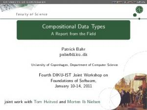 Compositional Data Types