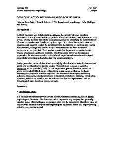 COMPOUND ACTION POTENTIALS: FROG SCIATIC NERVE