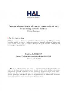 Compound quantitative ultrasonic tomography of long bones using wavelets analysis