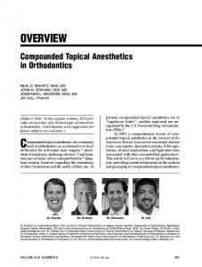 Compounded topical anesthetics are commonly