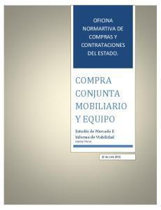 COMPRA CONJUNTA MOBILIARIO Y EQUIPO
