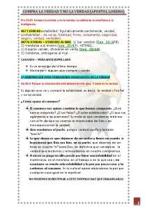 COMPRA LA VERDAD Y NO LA VENDAS (APOSTOL LORENA)