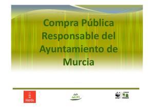Compra Pública Responsable del Ayuntamiento de Murcia