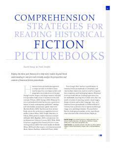 COMPREHENSION READING HISTORICAL FICTION PICTUREBOOKS