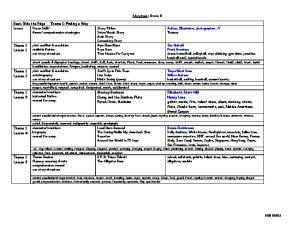 comprehension strategies. Theme 1 Lesson 1. Theme 1 Lesson 2
