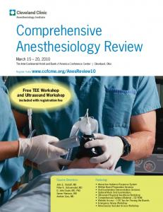Comprehensive Anesthesiology Review