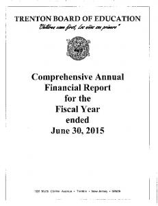 Comprehensive Annual Financial Report for the Fiscal Year ended June 30, 2015