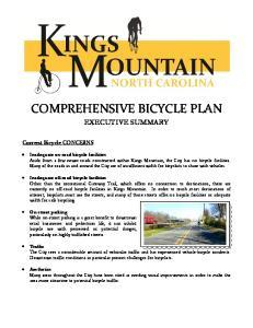 COMPREHENSIVE BICYCLE PLAN EXECUTIVE SUMMARY