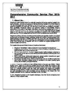 Comprehensive Community Service Plan