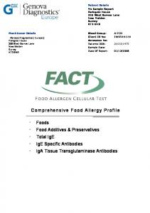 Comprehensive Food Allergy Profile