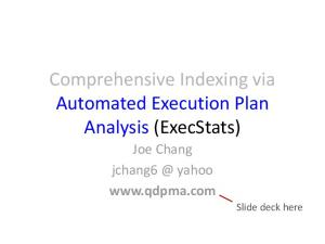 Comprehensive Indexing via Automated Execution Plan Analysis (ExecStats)