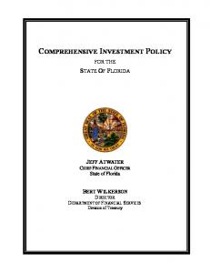COMPREHENSIVE INVESTMENT POLICY
