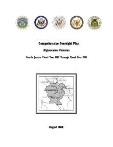 Comprehensive Oversight Plan